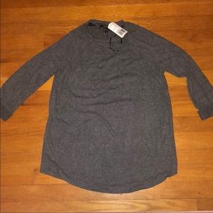 NWT FOREVER21 Gray super soft long sleeve SZ.S